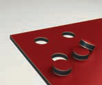 Aluminium composiet alutechbond rond uitsnijden